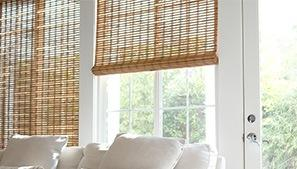 Woven Woods Above White Sofa