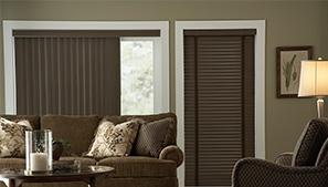 Vinyl Blinds in Living Room