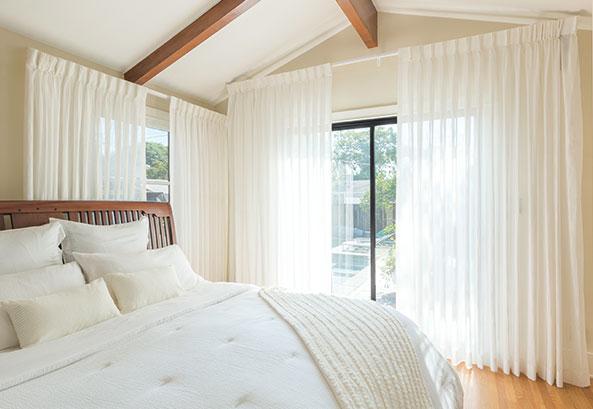 Creamy Drapery in Bedroom