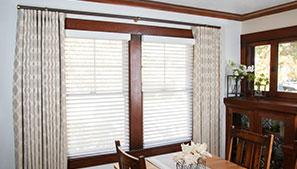 Drapery in a dining room