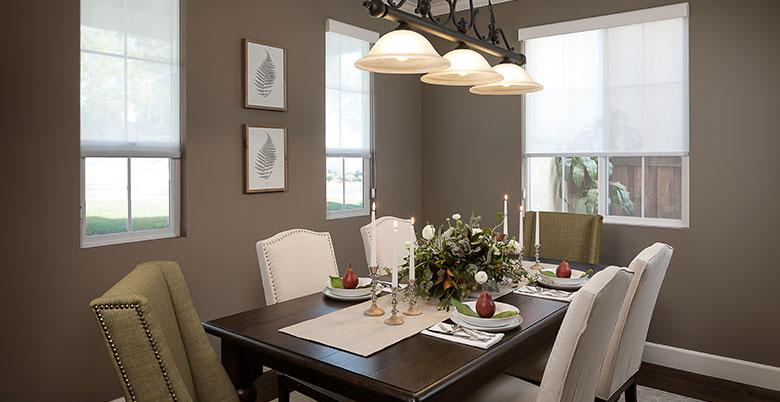 Roller Shade in a Dining Room