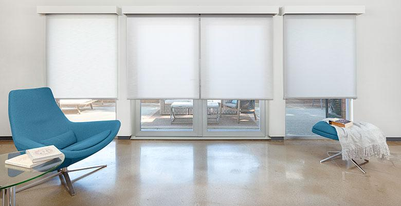 Roller Shade in a Great Room