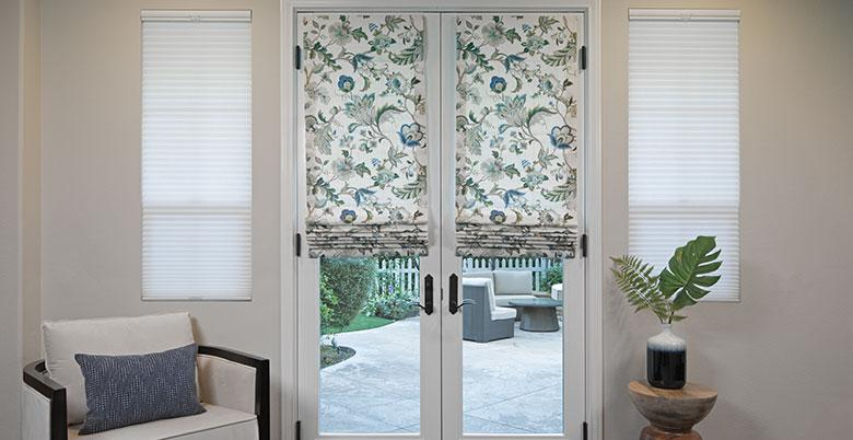 Soft Roman Shade on French Doors