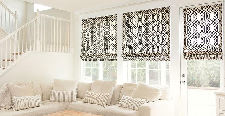 Soft Roman Shade in a Living Room